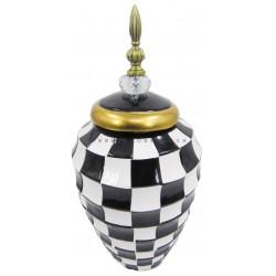 فازة خزفية نقوش شطرنج