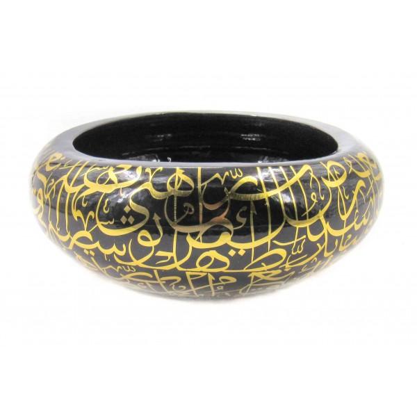 حوض خزفي ديكور مع زخارف عربية. المقاس :33 X 33 X 13 CM