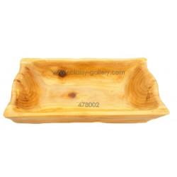 طبق تقديم من الخشب الطبيعي