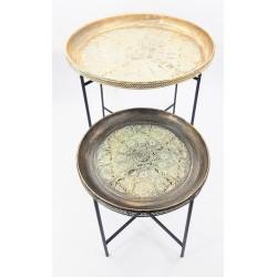 طقم صواني معدنية بأرجل