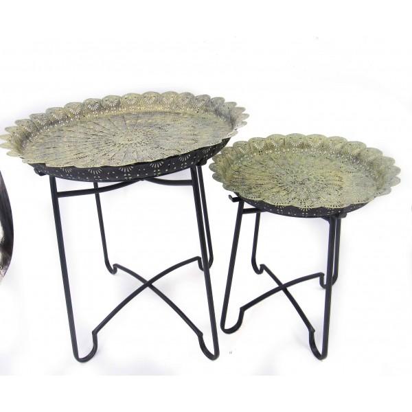 طقم طاولات تخزين معدنية