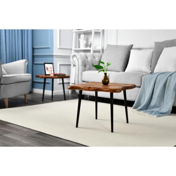 طاولة خشب طبيعي مقاس 55x55x39.6