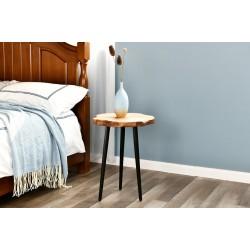 طاولة خشب طبيعي مقاس  40x40x51.6