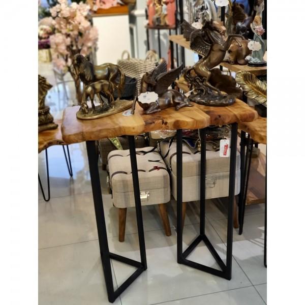 طاولة مدخل خشب طبيعي