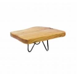 ستاند تقديم خشب طبيعي 22CM*10CM