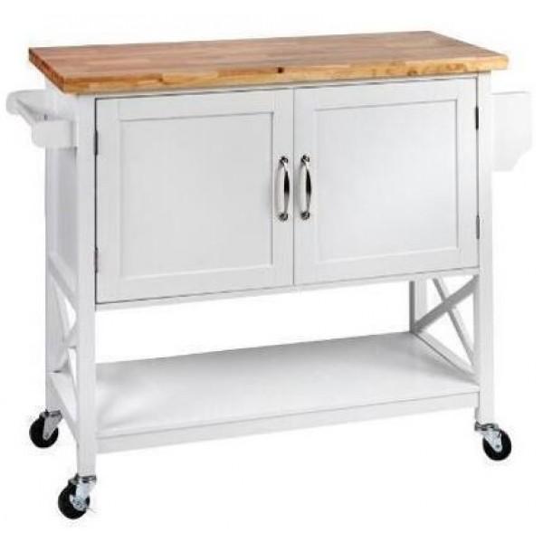 عربة مطبخ بابين مقاس 116*44*90.5 سم