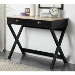 طاولة كونسول Hs,] بسطح خشبي مقاس103 X 49.5 X 76