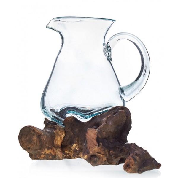 جك زجاجي ارتفاع 15cm   قطر  18cm
