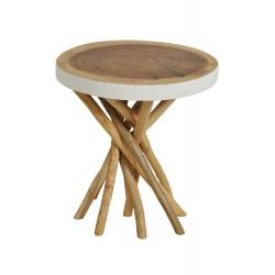 طاولة من الخيزران وخشب السرو ارتفاع 45 سم