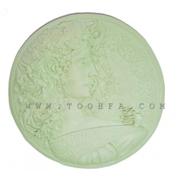 تعليقة جدارية رومانية من الفايبر اخضر
