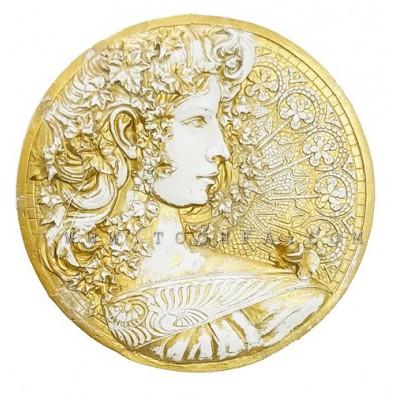 تعليقة جدارية رومانية من الفايبر ذهبي
