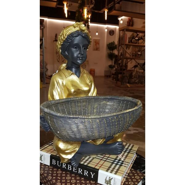 تحفة المرأة الهندية - كبير-لون   ذهبي