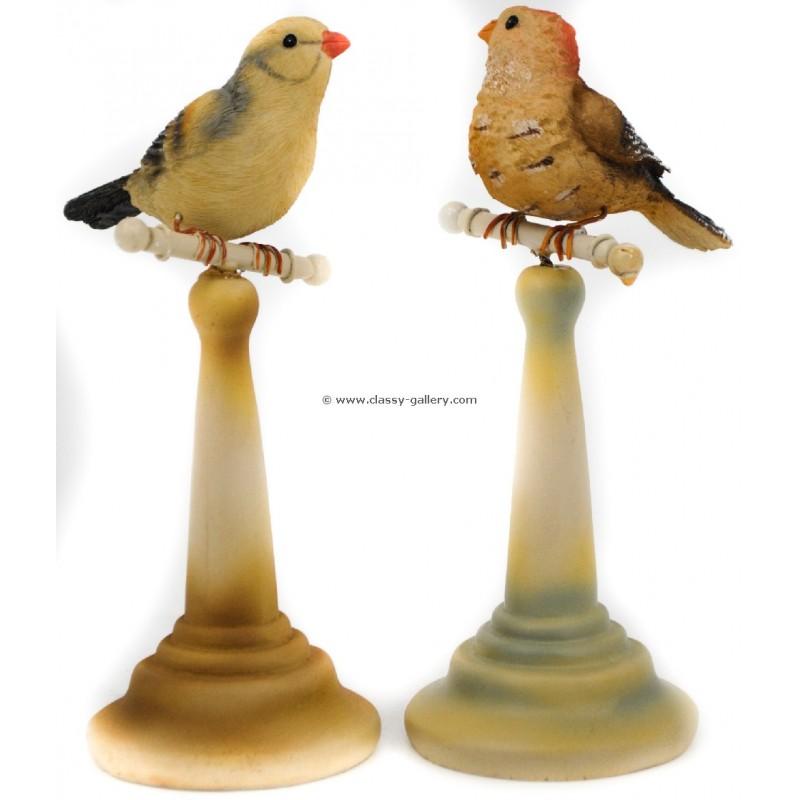 طقم شمعدانات شكل عصافير ( صغير)