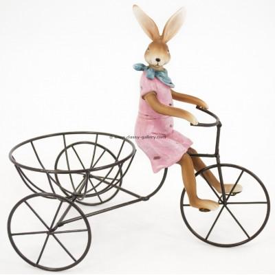 تحفة أرنبة على دراجة