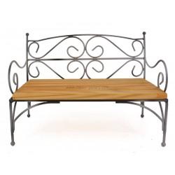 كرسي خشب+ معدن