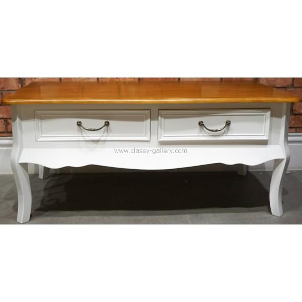 طاولة غرفة الجلوس مستطيلة بأدراج