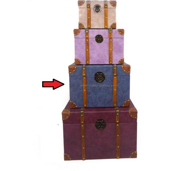 صندوق تخزين وسط/ازرق/ جزء من طقم