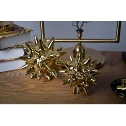 زينة طاولة سيراميك ذهبية اللون - صغير