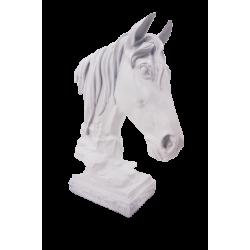ديكور بشكل رأس حصان أبيض