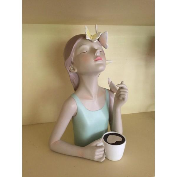 ديكور شاربة القهوة. المقاس :20*13.7*27.5