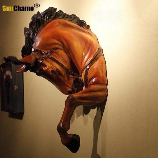 رأس حصان جداري